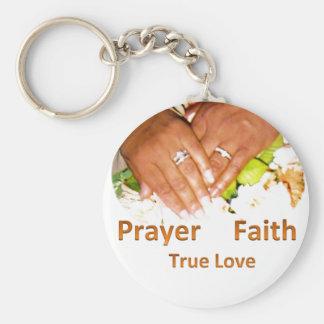 Prayer Faith True Love Basic Round Button Keychain