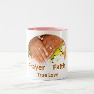 Prayer Faith True Love Two-Tone Coffee Mug
