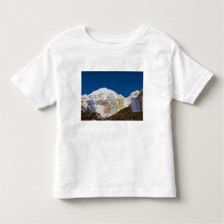 Prayer flags and Mount Jhomolhari, Bhutan. Toddler T-shirt