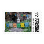 PRAYER FLAGS AT TEMPLE STAMP
