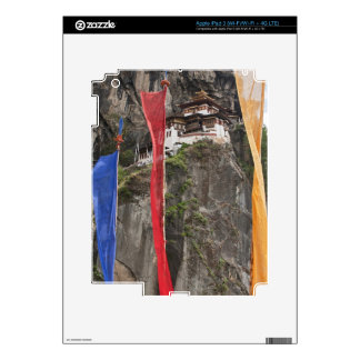 Prayer flags hang near Taktshang iPad 3 Skin