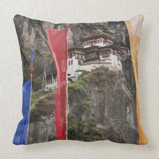 Prayer flags hang near Taktshang Pillow