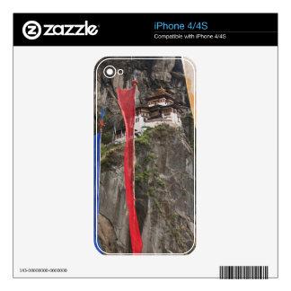 Prayer flags hang near Taktshang Skin For The iPhone 4