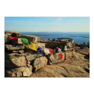 Prayer Flags on Mt. Major Poster