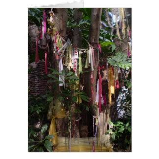 PRAYER FLAGS ON TREE NOTECARD