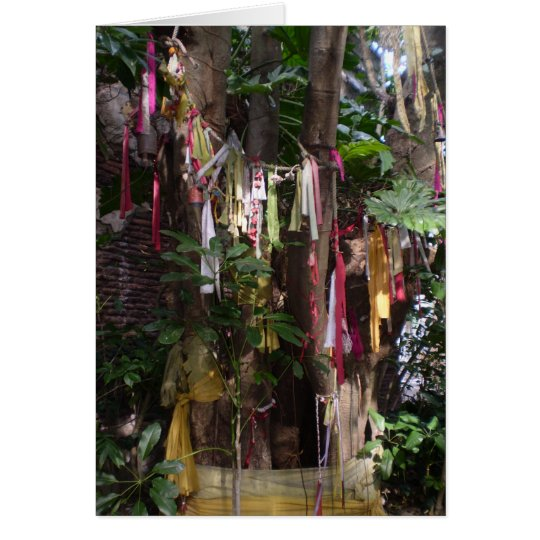 PRAYER FLAGS ON TREE NOTECARD