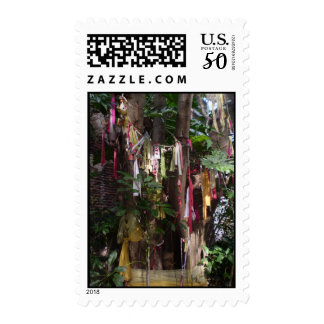 PRAYER FLAGS ON TREE POSTAGE