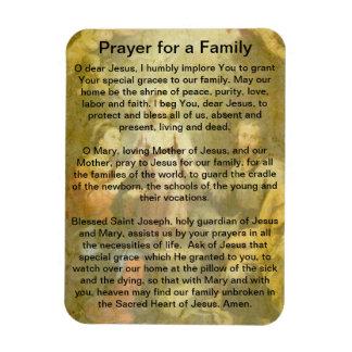Prayer for a Family Rectangular Photo Magnet