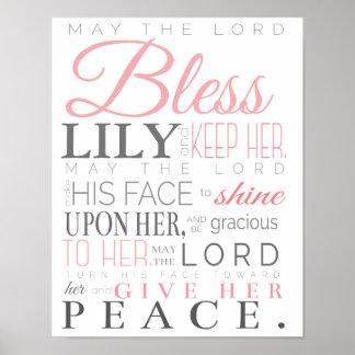 PRAYER FOR BABY GIRL POSTER