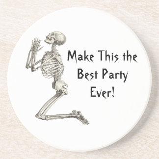 Prayer for Best Party Skeleton Halloween Coaster