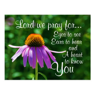 Prayer for Eyes to See and Ears to Hear, Custom Postcard