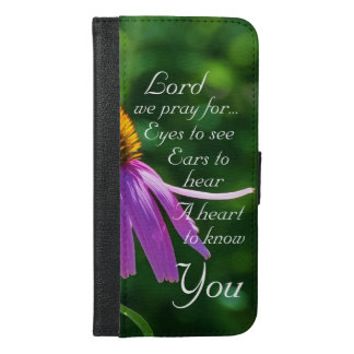 Prayer for Eyes to See and Ears to Hear, iPhone 6/6s Plus Wallet Case