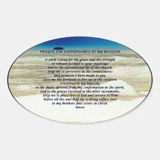 prayer for Faith Oval Sticker