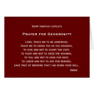 Prayer for Generosity Greeting Card