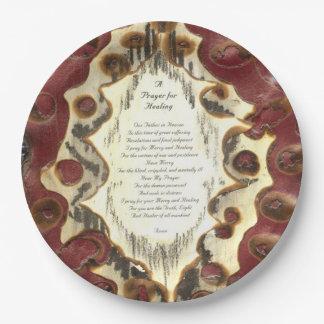 Prayer For Healing Paper Plate