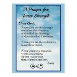 Prayer for Inner Strength Postcard
