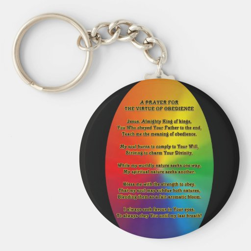 Prayer for obedience key chain