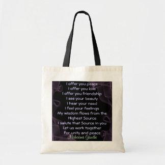 prayer for peace bag