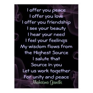 prayer for peace postcard