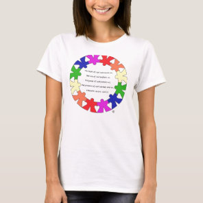 """Prayer for Protection in """"hands and hearts"""" circle T-Shirt"""