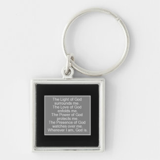 Prayer for protection keychain