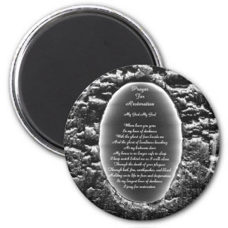 Prayer for Restoration 2 Inch Round Magnet