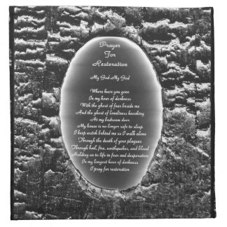 Prayer For Restoration Napkin