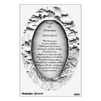 Prayer For Restoration Wall Decal