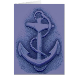 Prayer for Sailor Featuring Anchor Greeting Card