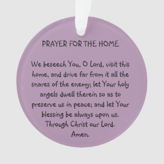 PRAYER FOR THE HOME ORNAMENT