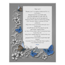 Prayer for those Living with Alzheimer's Poster
