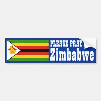Prayer for Zimbabwe Bumper Sticker