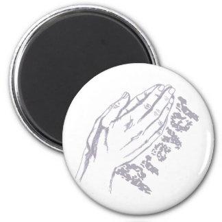 Prayer Hand 2 Lilas Magnet