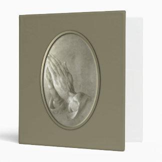 Prayer Hands 3 Ring Binder