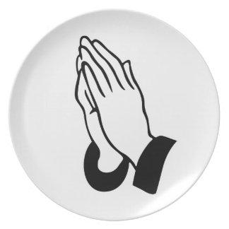 Prayer Hands Dinner Plate