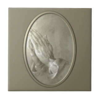 Prayer Hands Ceramic Tile