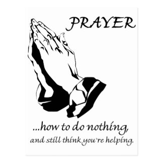 Prayer How to Do Nothing Postcard