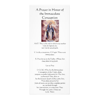 Prayer in Honor of the Immaculate Conception Rack Card