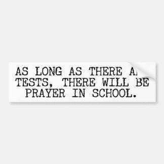 Prayer In School Car Bumper Sticker