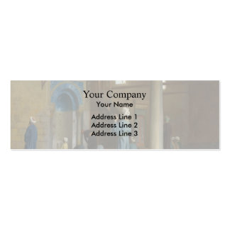Prayer in the Mosque by Jean-Leon Gerome Business Card Template