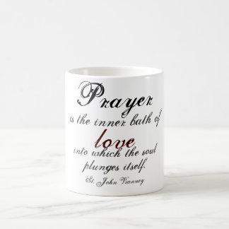 Prayer is the inner bath of love classic white coffee mug