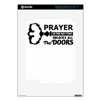 Prayer is the key to all doors iPad 3 decals
