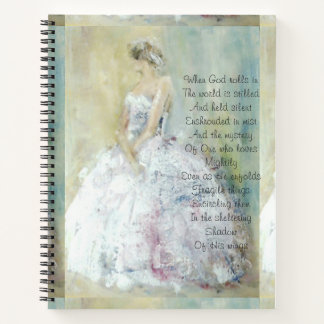 Prayer journal with figurative painting