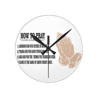 prayer lesson round clock