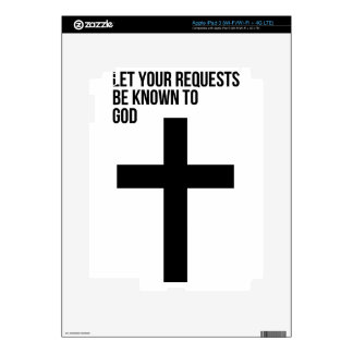 Prayer: Let Your Requests be Known to God Decals For iPad 3