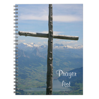 Prayer list notebook