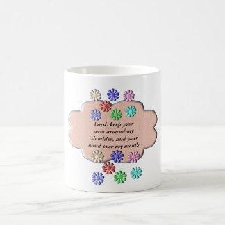 prayer - lord help me classic white coffee mug