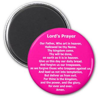 Prayer Magnet - rosa de señor Imán Redondo 5 Cm