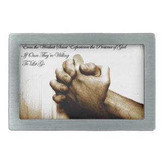 Prayer Makes Everything Different Rectangular Belt Buckle