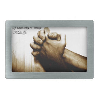 Prayer Makes Everything Different Rectangular Belt Buckles